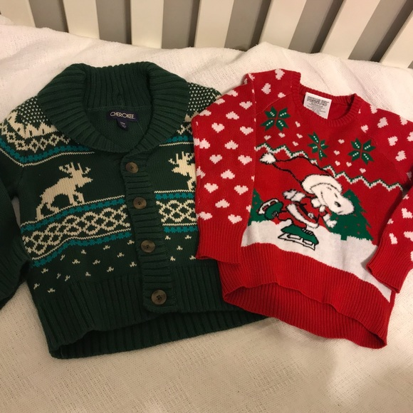 Peanuts Other - Holiday / Christmas toddler sweaters